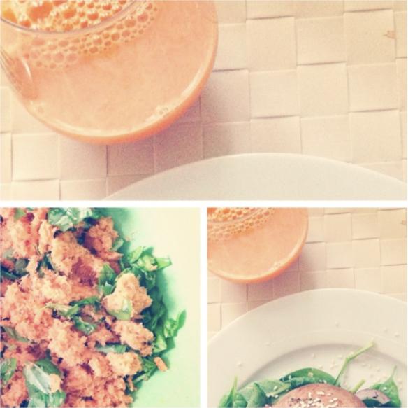 Gulerodsjuice og gulerodsbøffer
