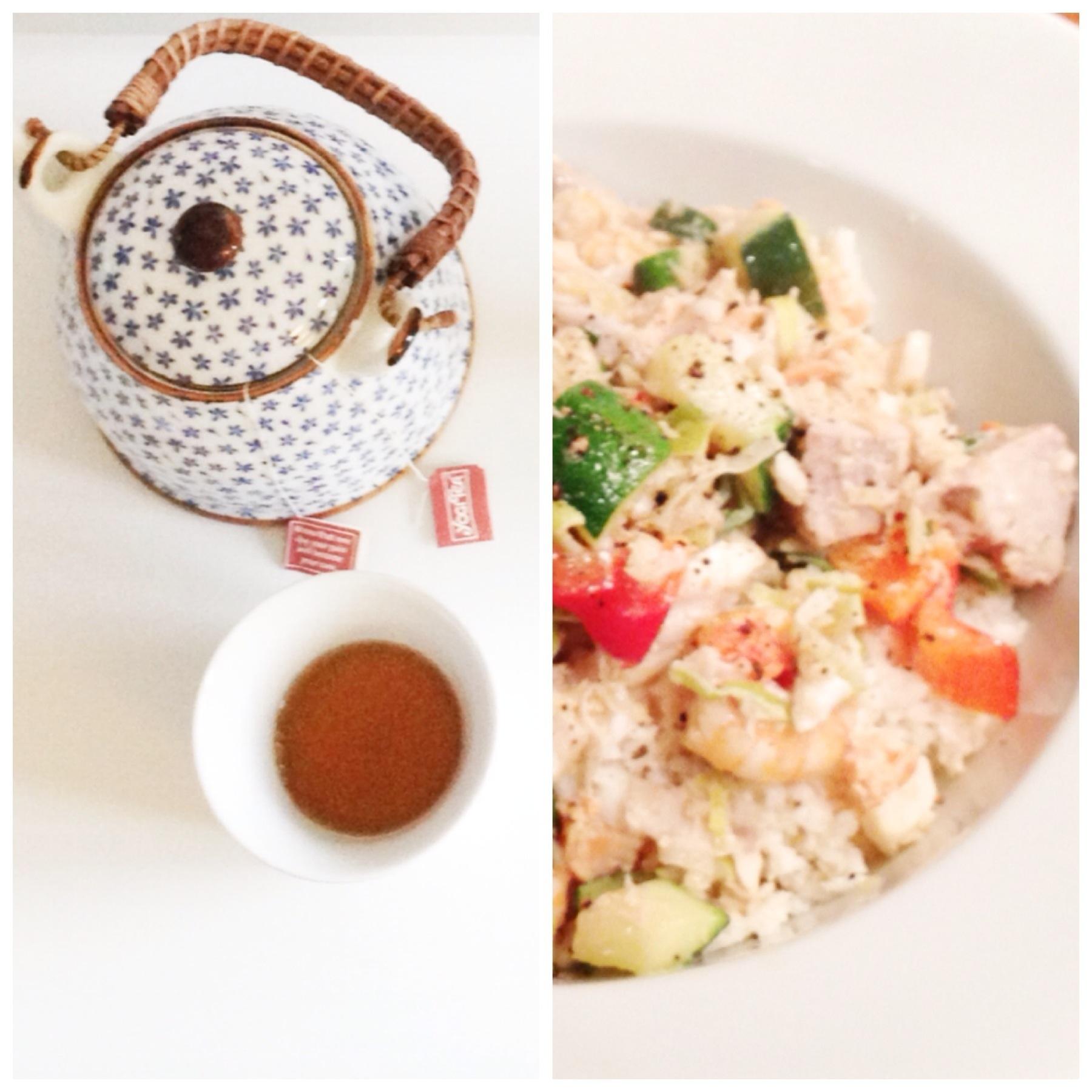 Te og fiskewok