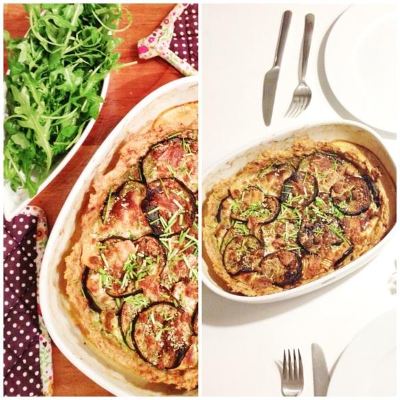 Meatpie med aubergine og gedeost