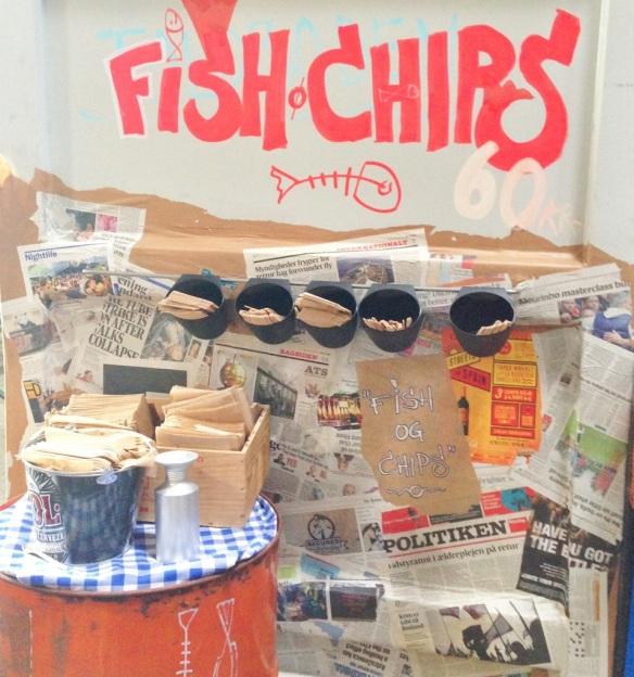 Fish 'n' chips Papirøen