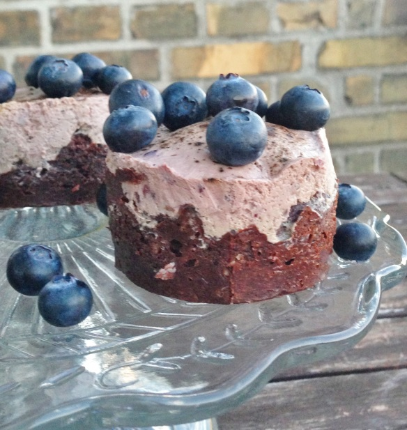 Sunde cupcakes med chokolade, blåbærmascarpone og lakrids