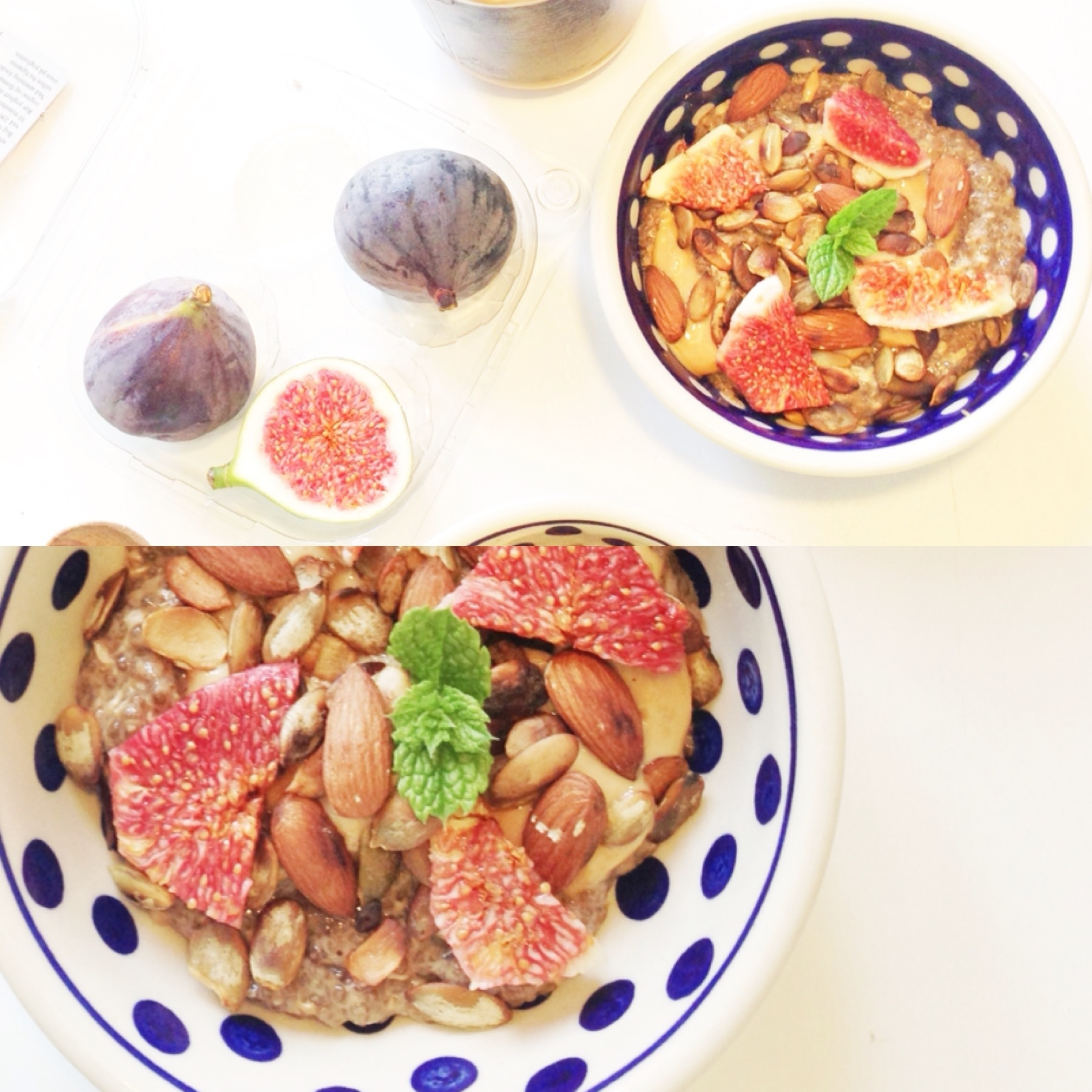 LakridschiaGRØD med peanutsmør, græskar og figner