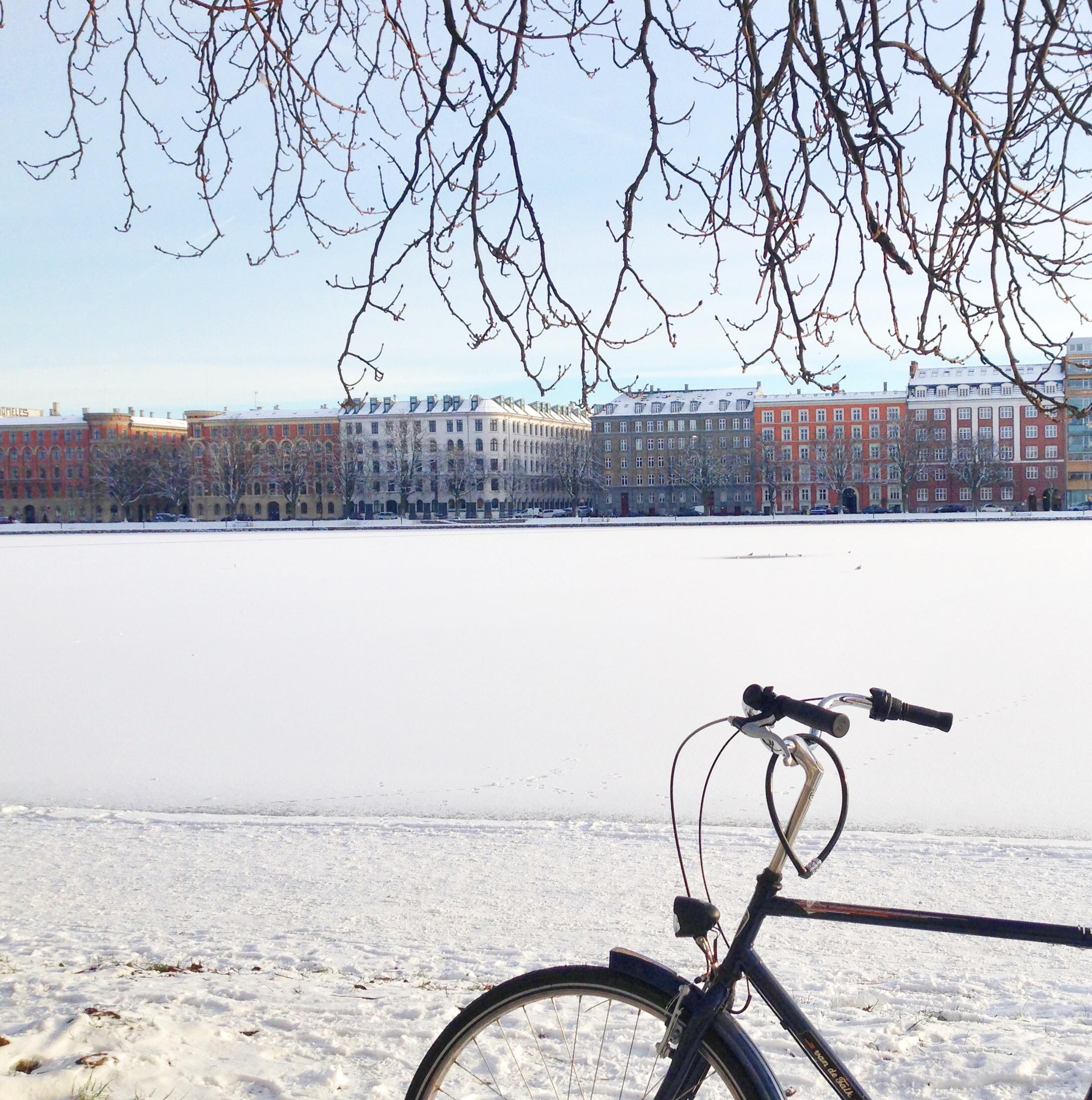 Sne og fuld fart ved Søerne