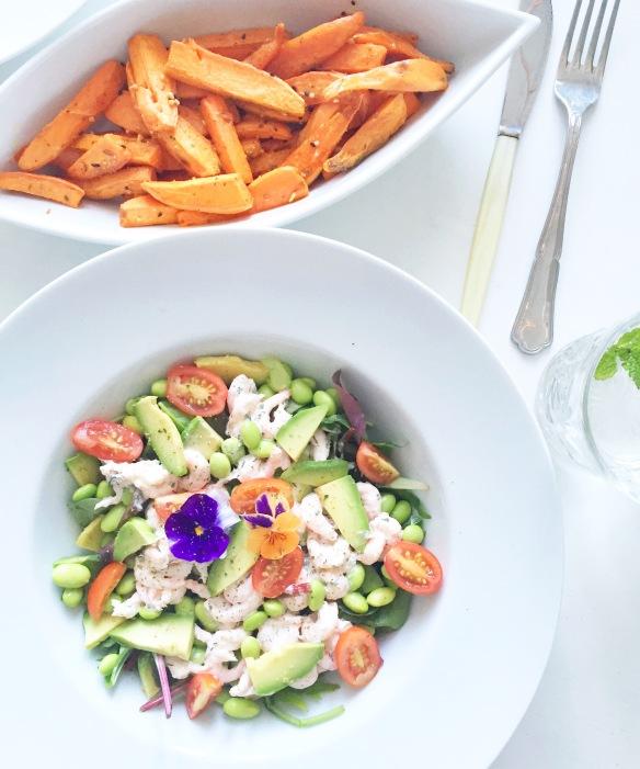 Nem og hurtig aftensmad: Rejesalat