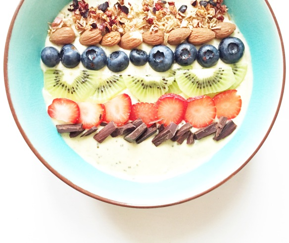 Kokos smoothie bowl (mælkefri yoghurt)