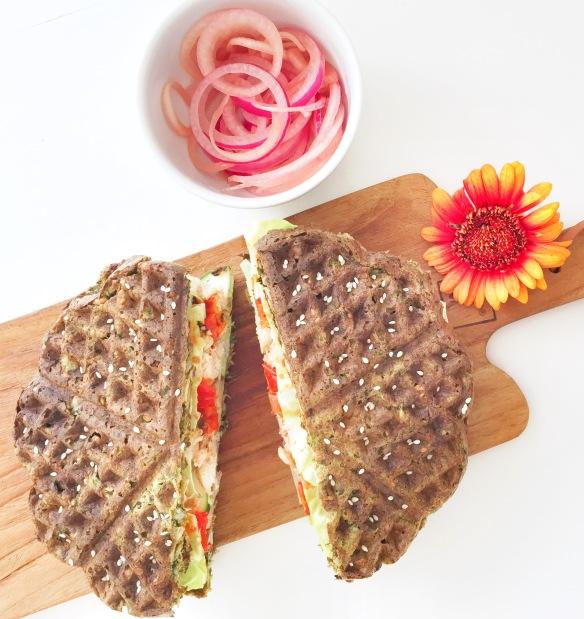Grønne sandwichvafler til madpakken